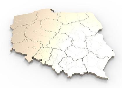 Województwa Polski mapa