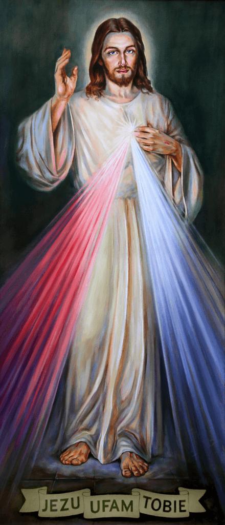 Obraz religijny jezusa miłosiernego